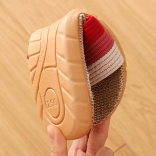 【BonBon naturel】亞麻室內涼拖鞋防滑拖鞋-經典條紋/多款可以挑選(亞麻拖鞋/防滑拖鞋/室內拖鞋)