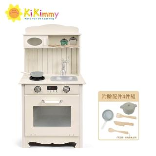 【kikimmy】奧莉薇鄉村木製聲光廚房玩具組(附配件4件)