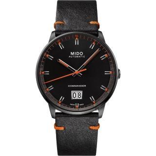 【MIDO 美度】Commander 香榭大日期機械錶-黑/42mm(M0216263605101)