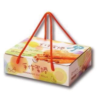 【一之軒】12入手作蛋捲禮盒 4組(蛋捲.酥脆口感.濃郁蛋香.伴手禮)