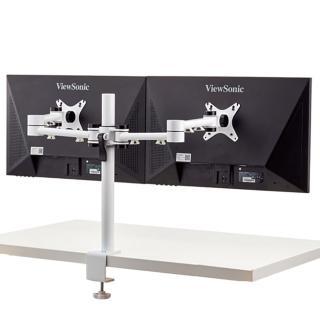 【aka】雙螢幕伸縮支架組-白色(電腦/液晶/螢幕架/筆電架/伸縮架)