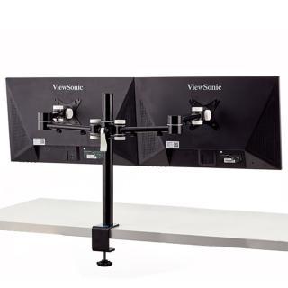 【aka】雙螢幕伸縮支架組-黑色(電腦/液晶/螢幕架/筆電架/伸縮架)