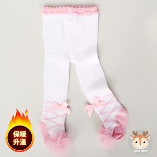 【Kori Deer 可莉鹿】夢遊仙境女嬰童褲襪 - 白兔先生(保暖褲襪)