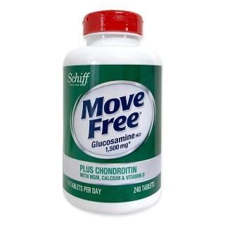 【Move Free 益節】葡萄糖胺+軟骨素+MSM+維生素D+鈣錠 240錠