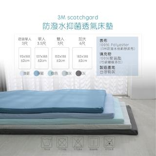 【ISHUR伊舒爾】3M吸濕排汗高彈力透氣抑菌床墊 單人加大3.5尺(學生床墊/日式床墊/台灣製/多色任選)