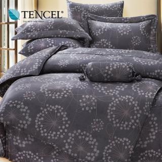 【貝兒居家寢飾生活館】100%天絲四件式全鋪棉兩用被床包組 帕洛馬(加大)