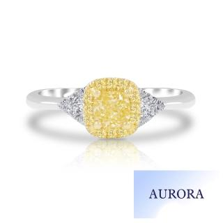 【AURORA 歐羅拉】品味30分黃彩鑽戒(18K)
