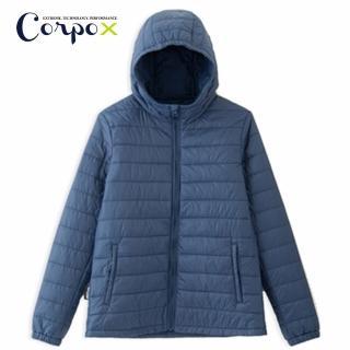 【Corpo X】女款科技羽絨連帽外套-3M Thinsulate 120g/m2(深藍)