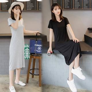 【K.W.】復古上城休閒洋裝3XL-4XL(共2色)