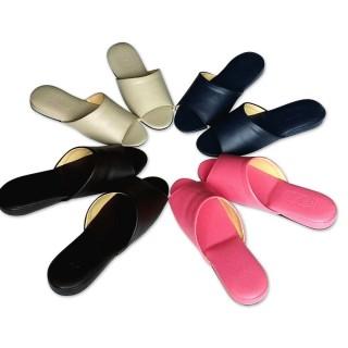 e鞋院日式可水洗氣墊厚底室內皮拖鞋-2雙入(室內拖鞋)