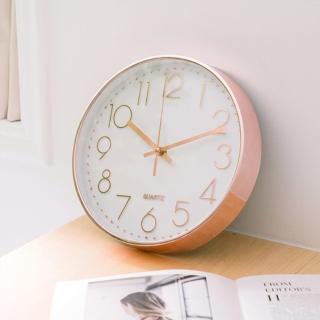 北歐時尚金屬靜音掛鐘/時鐘