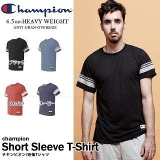 【Champion】運動品牌CHAMPION BASIC棒球雙線短T 美規AO300 素色(美規AO300)