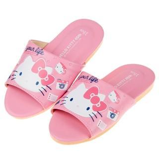 【布布童鞋】HelloKitty凱蒂貓45周年粉色親子室內拖鞋(Y9D685G)