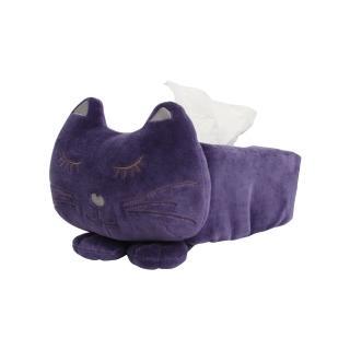【Yvonne Collection】貓咪造型立體衛生紙套(暗紫)