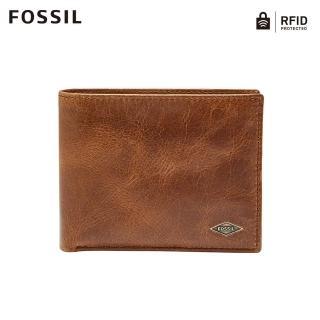 【FOSSIL】Ryan 真皮證件格RFID皮夾-淺褐色 ML3829201