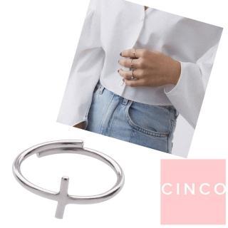 【CINCO】葡萄牙精品 DOUBLE PATH RING 925純銀戒指 十字架戒指(925純銀)