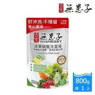 【古寶無患子】蔬果碗盤洗潔液-綠茶補充包