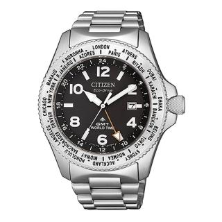 【CITIZEN 星辰】PROMASTER限量光動能強化水潛水腕錶-銀42mm(BJ7100-82E)