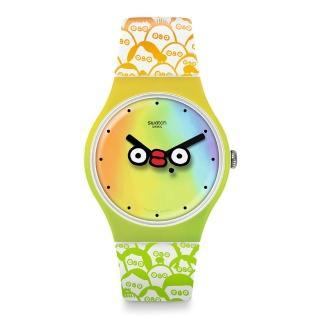 【SWATCH】CLUB WATCH系列手錶 WHAT IS YO FACE?(41mm)