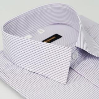 【金安德森】紫白條紋吸排短袖襯衫-fast