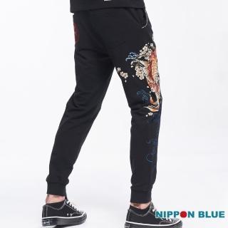 【BLUE WAY】日本藍櫻花鯉針織長褲_日本藍