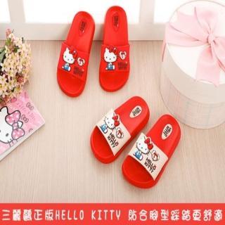 【SANRIO 三麗鷗】e鞋院HelloKittyQ軟萌萌兒童拖鞋(室內拖鞋)