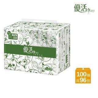 【Livi 優活】Livi 優活 抽取式衛生紙(100抽24包4袋/箱)