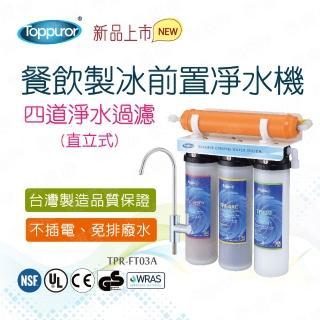 【Toppuror 泰浦樂】餐飲製冰前置四道淨水機_立式-不含安裝(TPR-FT03A)