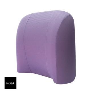 【HOLA】高密度抗菌健康深曲線舒適腰墊紫色