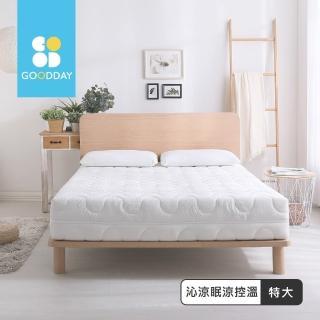 【GOODDAY】沁涼眠-五段式乳膠獨立筒床墊(雙人特大-180x210cm)