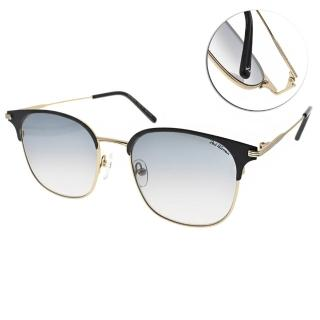 【PAUL HUEMAN】韓流眉框款眼鏡(黑淡金-漸層藍#PHS2001D 8)