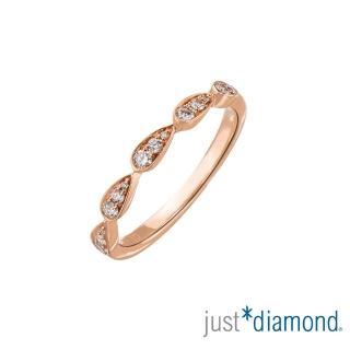 【Just Diamond】18K玫瑰金 鑽石戒指-Shining Heart