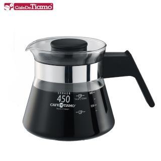 【Tiamo】耐熱玻璃壺-電木把手450cc(HG2208BK)