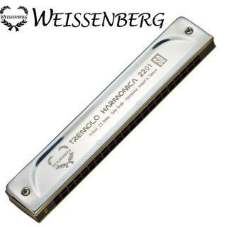 【韋笙堡 WEISSENBERG】入門款2201-SO 22孔複音口琴(不鏽鋼)