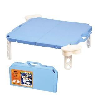 【Pearl】摺疊野餐桌 海軍藍 天空藍 D-6361