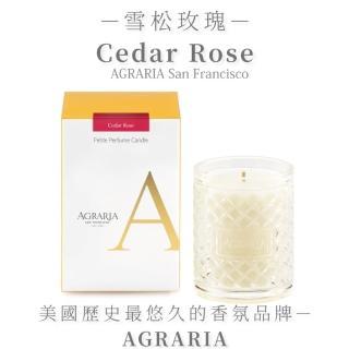 【AGRARIA美國天然香氛】雪松玫瑰香氛小蠟燭96g(香氛蠟燭 大豆蠟燭)