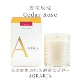 【AGRARIA美國天然香氛】雪松玫瑰香氛大蠟燭198g(香氛蠟燭 大豆蠟燭)