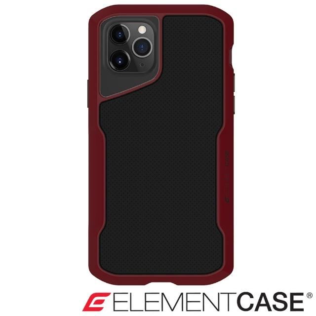 【Element Case】iPhone 11 Pro Max Shadow(流線手感軍規殼 - 紅黑)