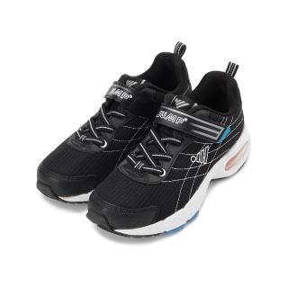 【JUMP】22-25 cm  大童鞋 布面車線慢跑鞋 2023B 黑(2023B)