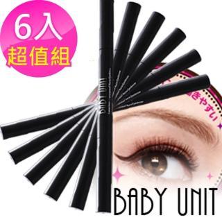 【BABY UNIT】極細速乾超防水36H眼線液筆6入組(防水 防油 不暈 極細 速乾)