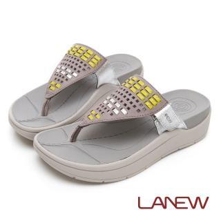 【La new】Fun鬆系列 Bio DCS  編織風格配色夾腳拖鞋(女45250802)