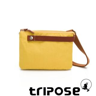 【tripose】漫遊系列岩紋輕巧可拆式雙層斜揹小包(活力黃)