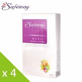 【safeway 數位】複合型4in1保險套(12入x4盒)