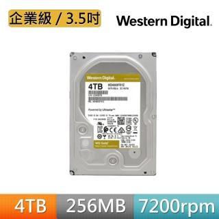 【WD 威騰】金標 4TB 3.5吋企業級硬碟(WD4003FRYZ)
