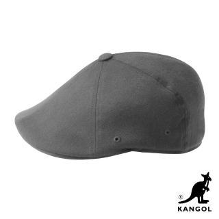 【KANGOL】504 WOOL FLEXFIT 鴨舌帽(灰色)