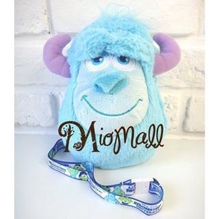 【Disney 迪士尼】日本進口怪獸大學 毛怪娃娃萬用包-附可愛項鍊(吊飾/相機包/手機包/零錢包/小物包)