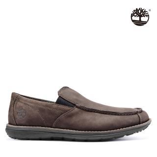 【Timberland】男款深棕色磨砂革帆船鞋(A17YV243)