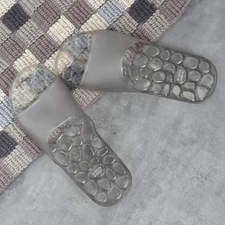 【生活工場】【618品牌週】靚灰仿石浴室拖鞋