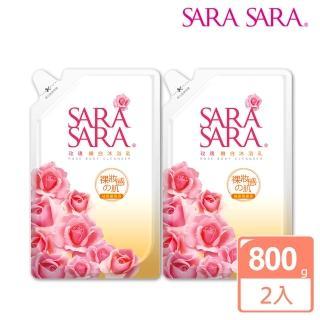 【SARA SARA莎啦莎啦】玫瑰嫩白沐浴乳補充包800gx2