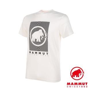【Mammut 長毛象】Trovat T-Shirt Men 機能LOGO素色短袖 T-Shirt 男款 白色PRT2 #1017-09863